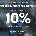 promoção toldos condor 10%
