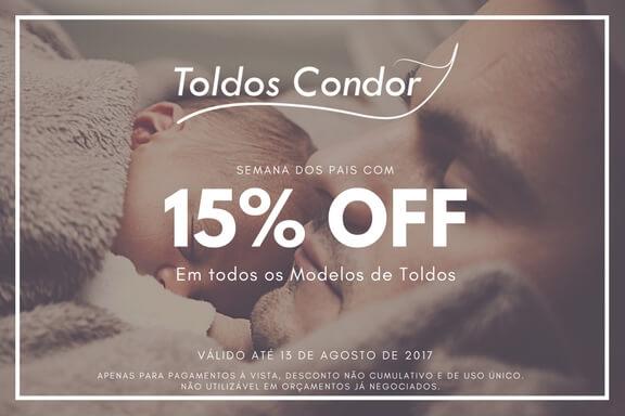 promoção dia dos pais toldos condor