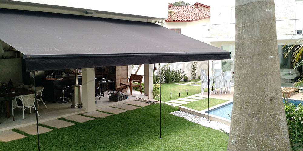 Toldos articulados condor modelo toldo articulado nacional - Toldos para patios exteriores ...